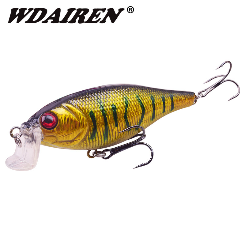 WDAIREN Minnow Fishing Lure 100mm 14.5g Hard Bait With 4# Treble Hook Swimbait Artificial Bait Hard Lure For Carp Fishing Pesca