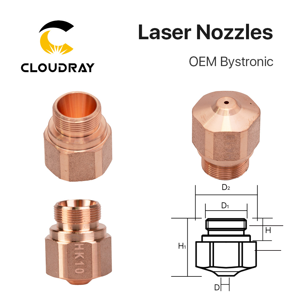 Cloudray HK08 HK10 HK12 HK15 HK17 HK20 HK25 HK30 Laser Nozzles For OEM Bystronic Fiber Laser Cutting Machine