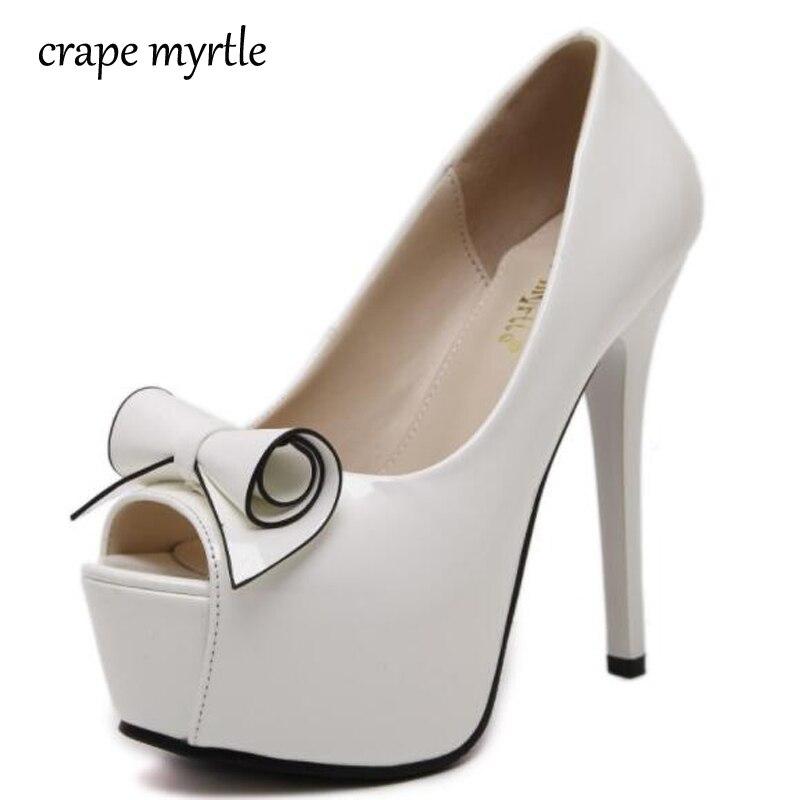 Damen Pumpen Hochzeit Plattform Frauen Heels Weiß Schuhe Pumps vgY76Ibymf