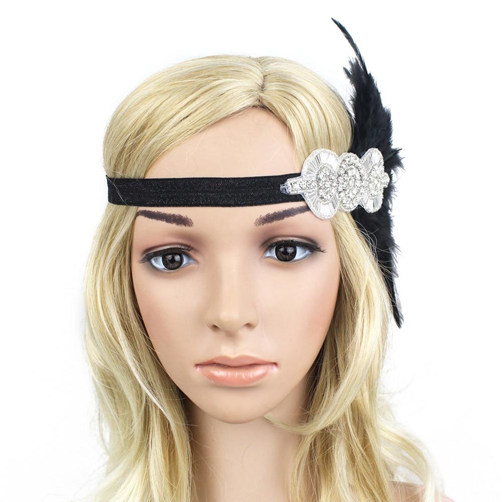 Retro 1920s Gatsby Applique Beads Headband Bride Girls Flapper Headpiece