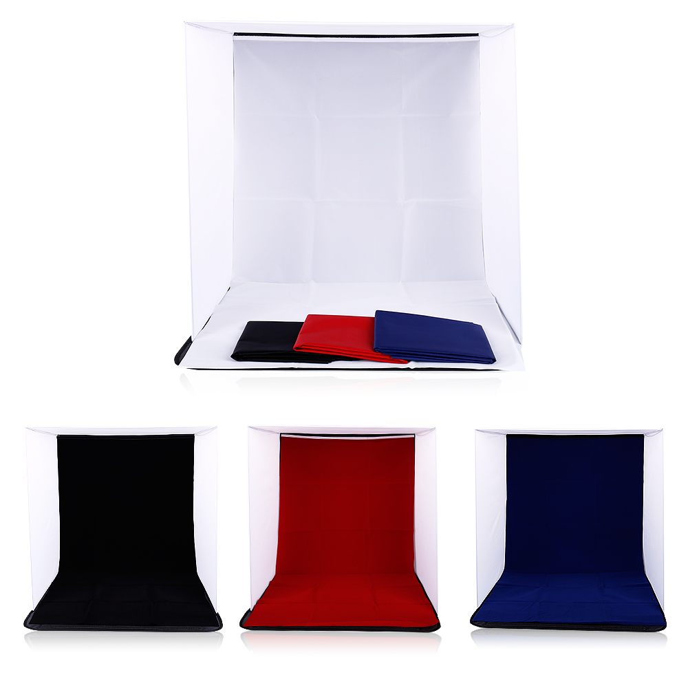 CY 40x40x40cm Portátil Mini Fold Studio Backdrops Softbox plegable con 4 colores Backgound Soft y Lightbox