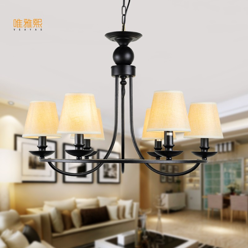 Modern Retro Chandelier for Living room Bedroom Hanging Antique Iron Chandelier American Style Free Shipping 2017 luminaria american retro crystal iron chandelier living room bedroom restaurant golden vintage art lighting free shipping