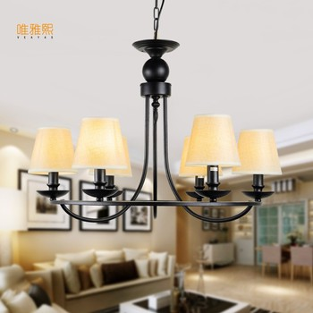 Modern Retro Chandelier for Living room Bedroom Hanging Antique Iron Chandelier American Style Free Shipping