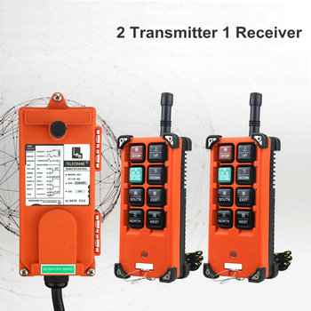 F21-E1B Industrial Crane Remote Control Wireless Universal Radio Control AC/DC 2 Transmitter 1 Receiver