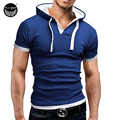 Brand 2017 Mens Polo Shirt Short-Sleeve Solid Poloshirt Men Polo Homme Slim Mens Clothing Camisas Hooded Camisa Polo  Shirt 4XL