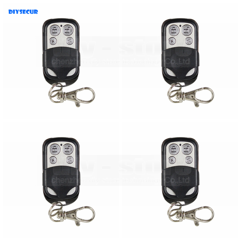 DIYSECUR 4pcs Wireless 433Mhz Keyfobs Remote Control for Our Related Home font b Alarm b font