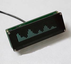 Image 4 - Ak7115 vfd music spectrum display analisador de áudio estéreo indicador nível ritmo vu medidor vfd colck + amplificador controle remoto