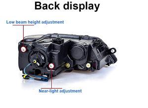 Image 3 - 2 stücke tuning autos Scheinwerfer Für JettaMK6 Scheinwerfer sagitar 2012 2013 2014 2015 LED DRL Lauf lichter Bi Xenon strahl Nebel lichter