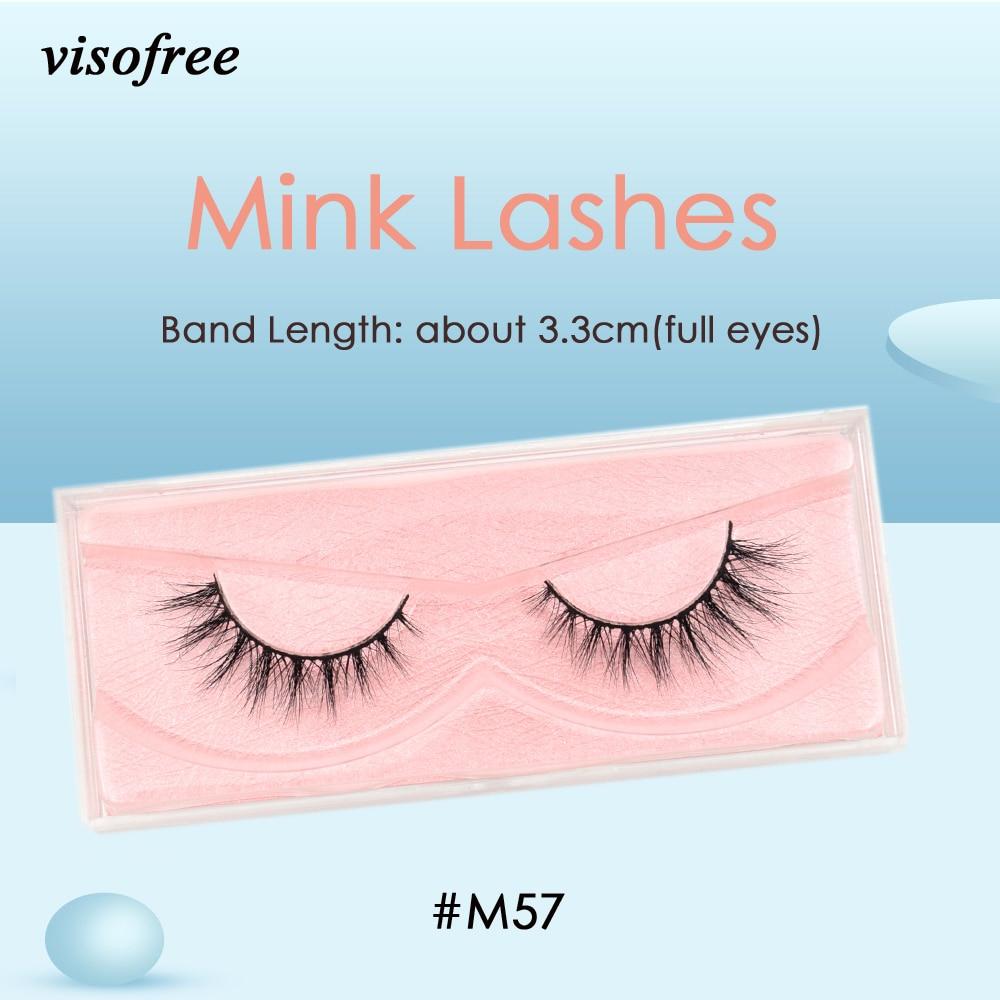 Visofree Mink Lashes 3D Mink Eyelashes Ultra Fluffy Collection Medium Volume Mink False Eyelashes Cruelty Free Lashes Makeup M57