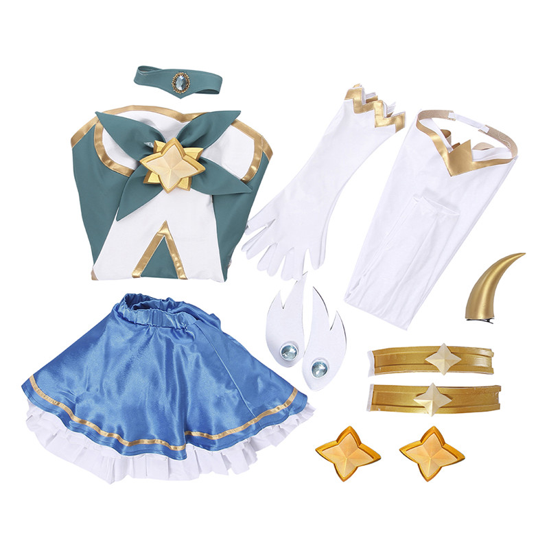 ROLECOS Brand New Arrival Game LOL Cospaly Costumes Star Guardian 2017 The Starchild Soraka Cosplay Costume Top Skirt Full Set