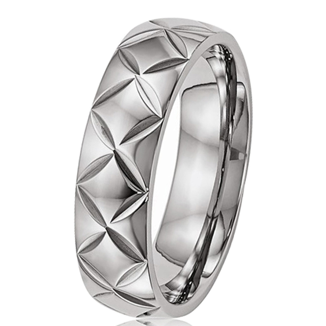6mm Unisex Men's Titanium Ring Comfort Fit  Engagement Wedding Band Alliance Jewelry Come With Gift Bag Size 7-13 TI056R