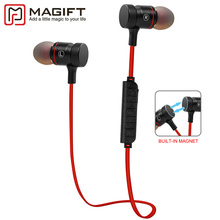 Magift9 New Wireless Bluetooth 4.1 Head Magnetic Earphone Support Aptx Sports Running Headset for iphone Samsung phones