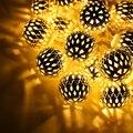 3AA Батарейках 2 М 20led Открытый LED Медной Проволоки Красочные Фея теплый Огни Строки мяч для Праздник Рождества Христова Партии лампы