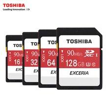 Toshiba карты памяти sd uhs u3 128 ГБ 90mbs 600×32 gb sdhc карты SD 64 ГБ SDXC Карты Флэш-16 Г U1 Для Цифровых ЗЕРКАЛЬНЫХ Фотокамер Видеокамера Д. в.