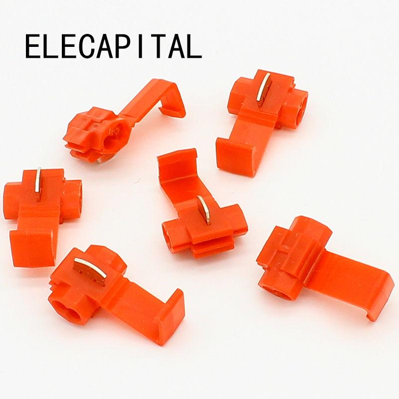 50PCS Scotch Lock Wire Electrical Cable Connectors Quick Splice Terminals Crimp