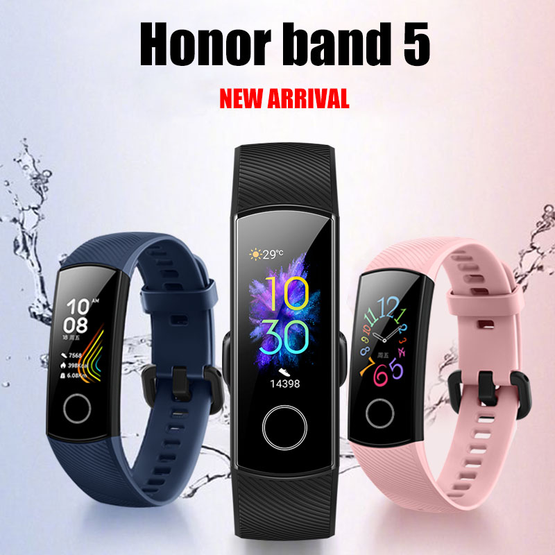 HUAWEI HONOR Band 5 Smart Wristband Oximeter Blood oxygen Color Screen Full Touch Heart Rate Stroke
