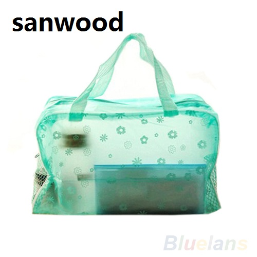 2015 Hot Floral Print Transparent Waterproof Cosmetic Bag Toiletry Bathing Pouch 6NR2 floral print tee