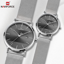 Couple Watch NAVIFORCE Mens Watch Simple Luxury Quartz Wrist
