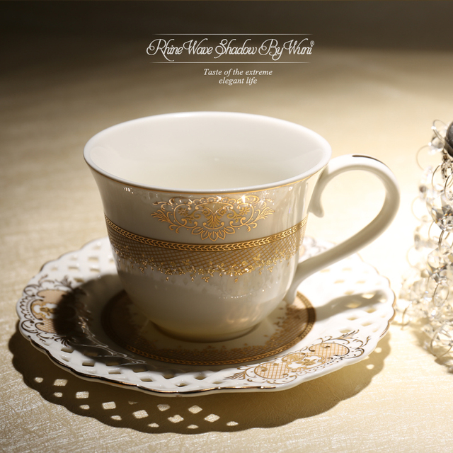 200ml France Luxury High End Clical Coffee Cup Afternoon Black Tea Saucer