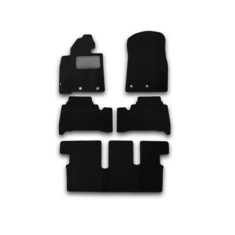 Mats in salon Klever Standard For TOYOTA Land Cruiser 200, 7 seats, AUTOMATIC TRANSMISSION, 2012-> внед... 5 PCs (textile) mats in the salon for peugeot 4008 automatic transmission 2012 внед 5 pcs textile