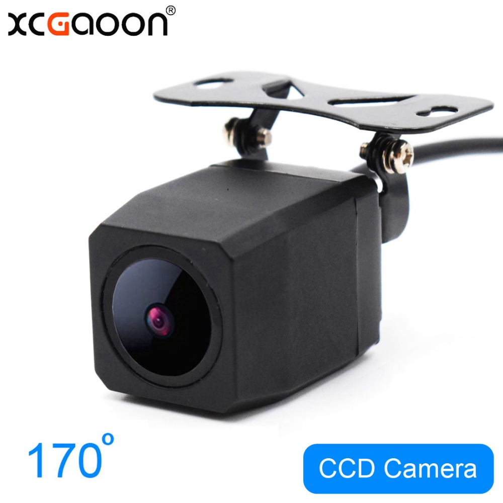 XCGaoon Metal CCD Car Rear View Camera Night Version Waterproof Wide Angle Backup Camera Parking Reversing Assistance