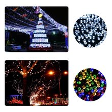 LMID Solar Light Powered Xmas Garland Fairy Camping Christmas Decoration Waterproof Led Solar Light Outdoor