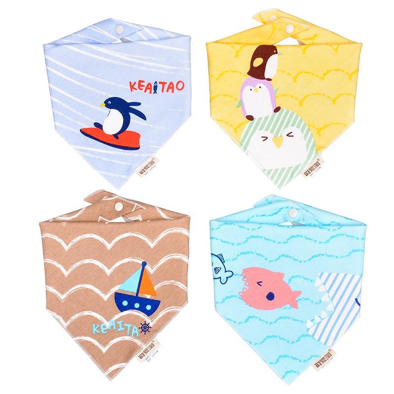2pcs Baby Bibs Double Layers 100% Cotton Infant Bib Toddler Boys Girls Cute Baby Bibs