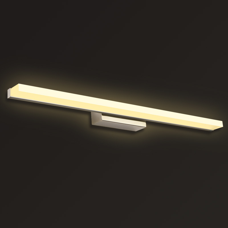 Moda Xətti Akril LED Güzgü İşıq 0.4M ~ 1.5M Ağ Lampshade Hamam - Daxili işıqlandırma - Fotoqrafiya 4