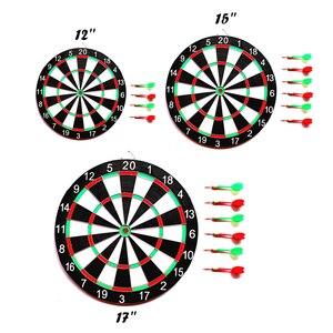 Image 4 - 6 Darts & Darts Board Set 12/15/17 Inch Familie/Kantoor Spel Dartbord Sport Oefening Darts Spel