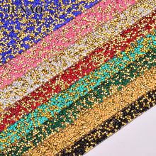 JUNAO 24 40cm Hotfix Colorful Rhinestones Fabric Sheet Gold Crystal Trim  Diamond Mesh Resin Applique 3c581582d1f0