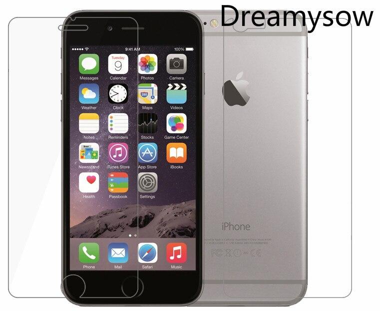 2 шт. (1 шт. спереди + 1 шт. назад) закаленное Стекло для IPhone X I6S i6 плюс i7 <font><b>i8</b></font> плюс 4 4S 5 5C 5 SE Экран протектор 2 шт.