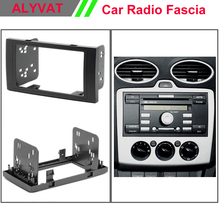 Одежда высшего качества авто Радио фасции Для Ford Focus II, C-Max; S-MAX, Fiesta, galaxy стерео Фризовая тире CD Обрезать Установка комплект