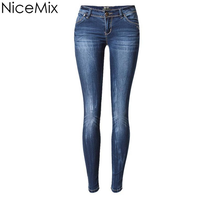 2865ecbe53 NiceMix Brand 2019 New Fashion Jeans Woman Plus Size Casual Denim Pants  Sexy Low Waist Skinny Pencil Pants Jeans Femme