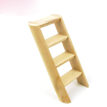 1 Pc Hamster Ladder Stand Wooden Climbing Toy Solid Playing Accessories Products for Hamster Squirrel Guinea Pig 1