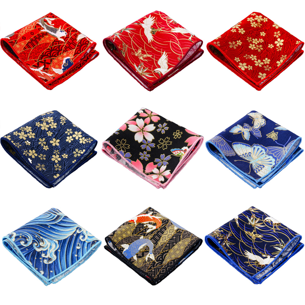 Men's Handkerchief Stylish Floral Pattern Wedding Party Business Pocket Square QNTIE0095
