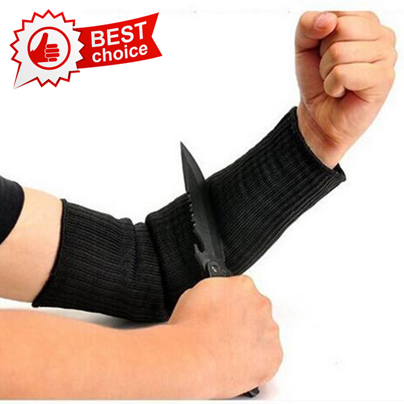 NMSAFETY Cutting Outdoor Self-defense Arm Guard Against Glass Knife Cut Steel Gloves Cuff Cut-resistant Protective Safety Glove top quality 304l stainless steel mesh knife cut resistant chain mail protective glove for kitchen butcher working safety