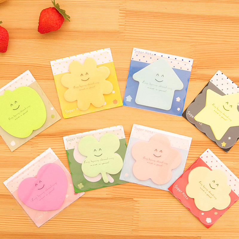 8 pcs/Lot Color post stickers Cute star sticky notes Bookmark stationery Memo pad Office material school supplies Zakka EM460