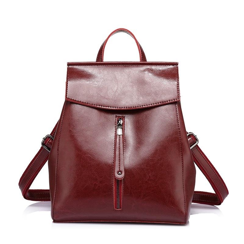 5a5e9c99d71c9 REALER frauen rucksack hohe qualität kuh split leder rucksäcke damen  schulter taschen weibliche schule tasche für