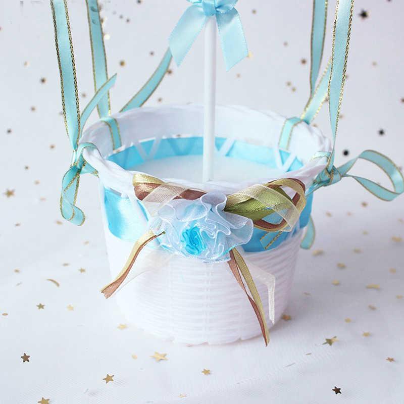 Блестки горячий шар Колыбель счастливое украшение для именинного торта мальчик/девочка подарок торт Топ флаги душ украшение для тортов свадебные принадлежности