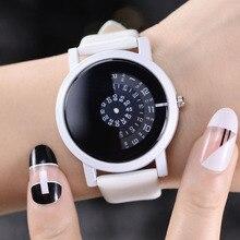 Новая мода творческий Дизайн кварцевые часы женский, черный и белый Камера Concept пара причинная наручные часы женский часы Relogio