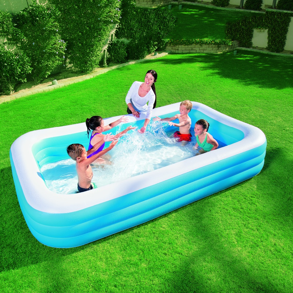 Buy bestway genuine 54009 three ring for Best rated inflatable swimming pool