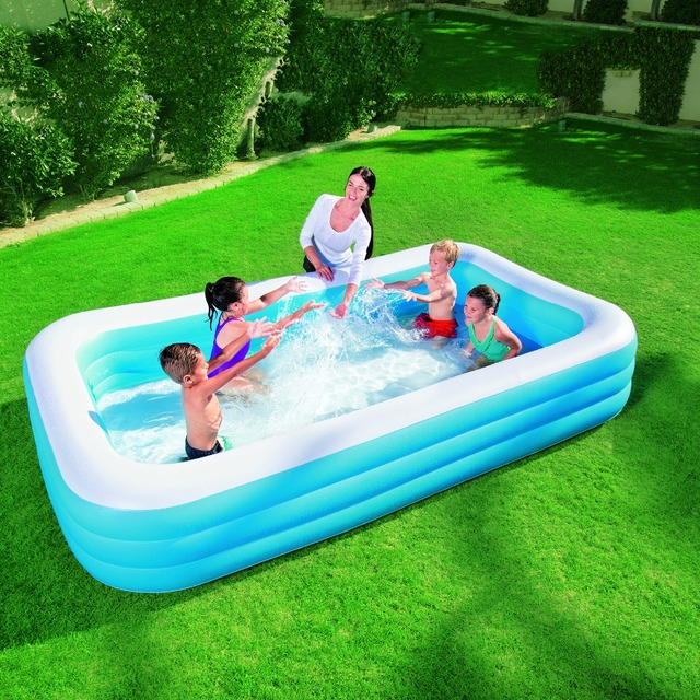 bestway genuine 54009 three ring rectangular inflatable pool adult baby bath pool ball pool b32