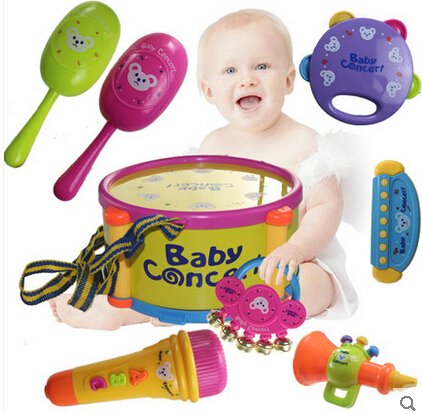 Baby Rattle Toy Hand Drum Music Drum Child Pat Educational Baby Toys  Years Old 6 12 Months Old 7 8