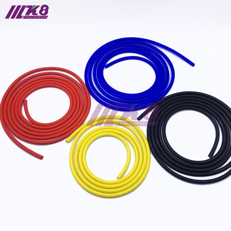 Tubo de aspiración de silicona completo manguera de combustible/manguera de vacío de aire/línea/tubería/tubo 2 metros 6,6 pies ID 3MM rojo/azul/negro/amarillo