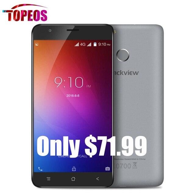 Оригинал Blackview E7 5.5 дюймов 4 Г Смартфон 1 ГБ RAM + 16 ГБ ROM Android 6.0 MTK6737 Quad Core 1.3 ГГЦ 8.0MP 2700 мАч Отпечатков Пальцев HD