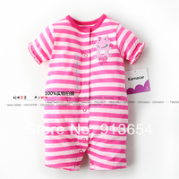 new 2017 baby romper summer baby clothes kids pink striped rompers baby girl short sleeves overall newborn baby wear