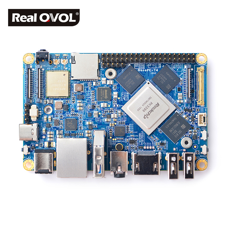 Image 3 - RealQvol NanoPC T4 Minimal Rockchip RK3399 Soc 4GB RAM 16GB eMMC AI and deep learning applications Dual band wifi M.2 PCIe NVME-in Demo Board from Computer & Office