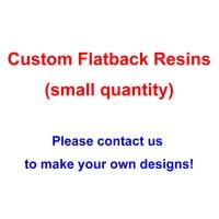 Custom Designs Flatback Resins For Hair Bows Kawaii Cartoon Character Planar Resin Cabochon For Home Decoration Accessories