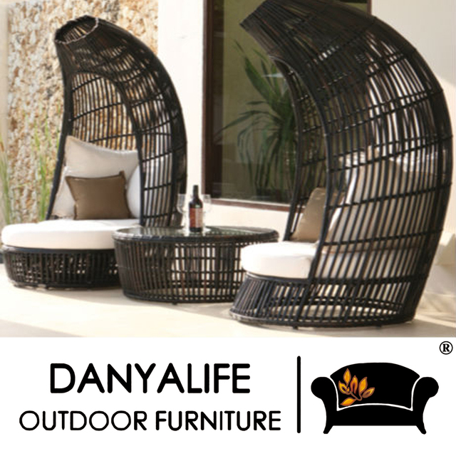 DYBED D320A Danyalife OEM All Weather Furniture Poly Rattan Outdoor Lounge  Chair