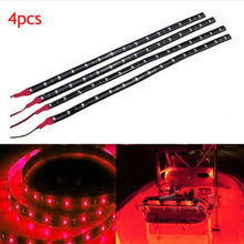 4X Ultra Red LED Boat Light Deck Courtesy Bow Trailer Pontoon 12V Waterproof